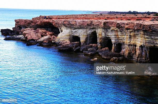 Rock Formations By Sea