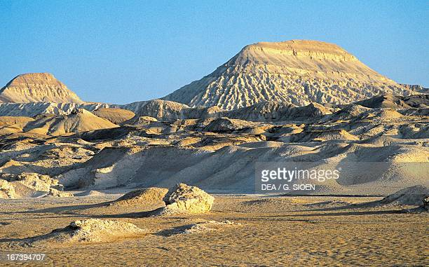 Rock formations eroded by wind desert of the Sinai Peninsula Egypt