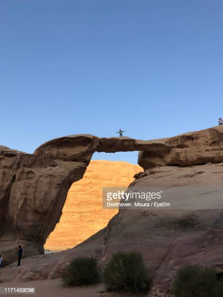 rock formations in a desert - moura stock photos and pictures