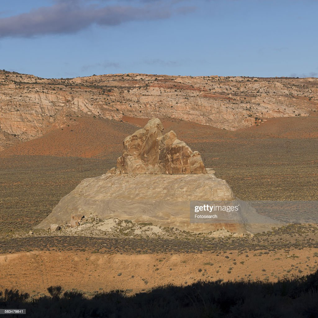 Rock formations in a desert : Stock Photo
