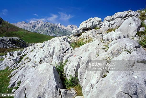 rock formations in asturias - alamany fotografías e imágenes de stock