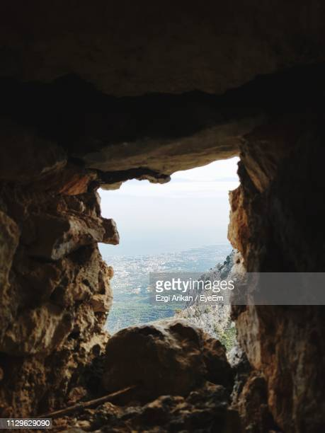 rock formations in cave - cyprus island stock pictures, royalty-free photos & images