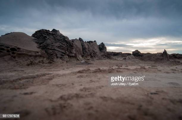 rock formations in desert against sky - josh utley stock pictures, royalty-free photos & images