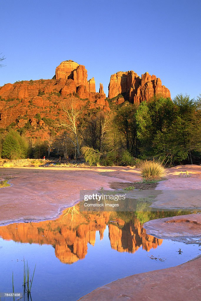 Rock formations in desert : Stock Photo