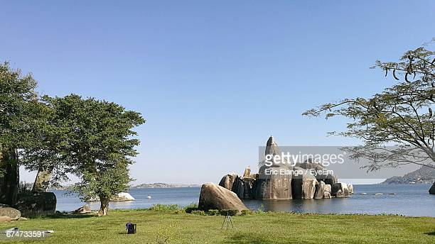 Rock Formations In Lake Victoria Against Sky