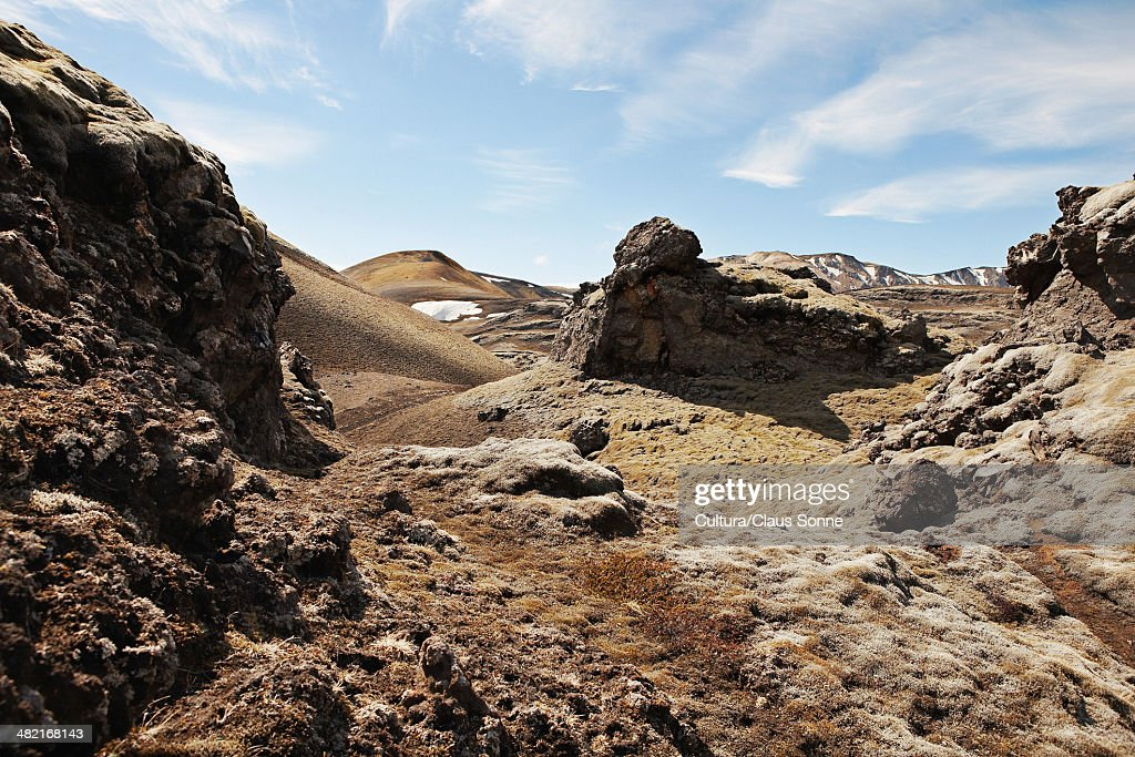 Rock formations in rural landscape : Stock Photo