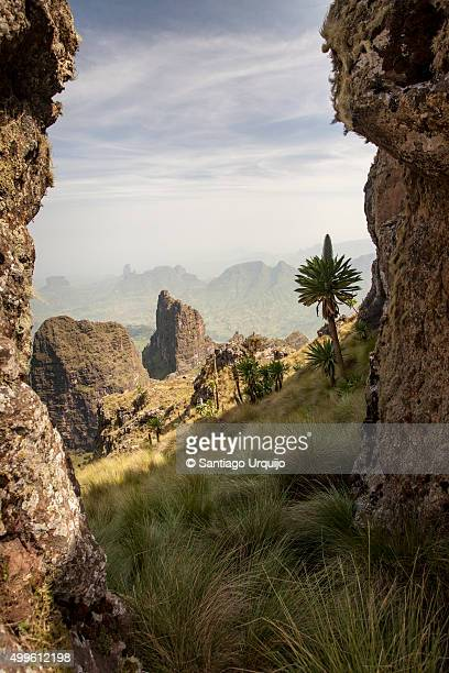 Rock formations in Simien Mountains