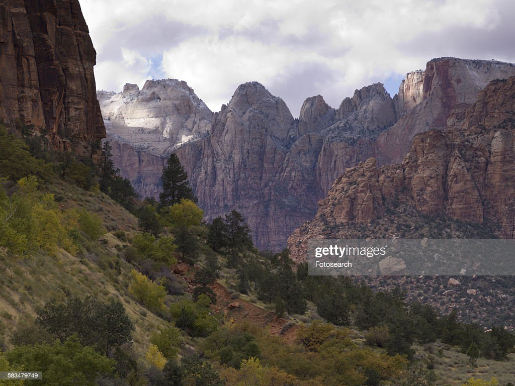 Rock formations in Zion National Park : Stock Photo