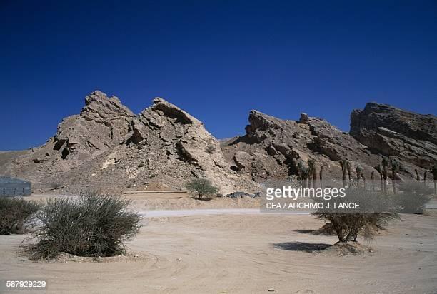Rock formations Jebel Hafeet near Al Ain Abu Dhabi United Arab Emirates