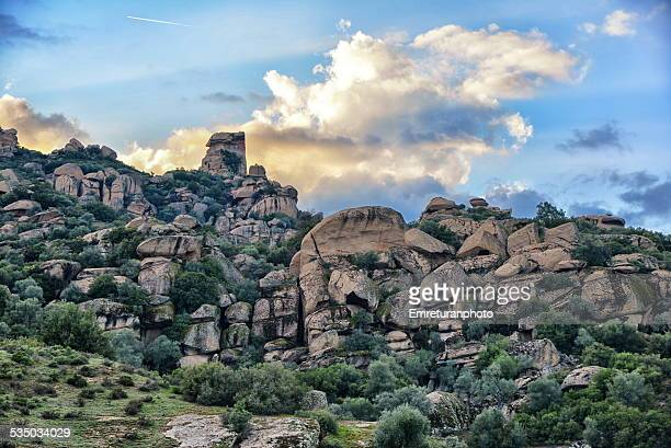 rock formations near cine - emreturanphoto stock pictures, royalty-free photos & images