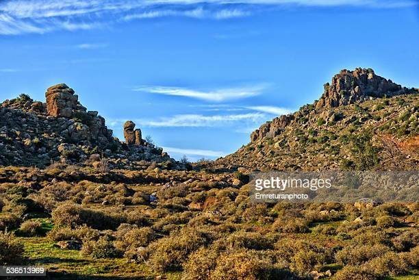 rock formations near kapikaya village - emreturanphoto stock pictures, royalty-free photos & images