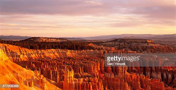 Rock formations of Bryce Canyon at sunrise