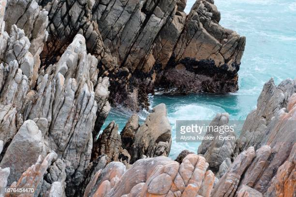 Rock Formations On Sea Shore