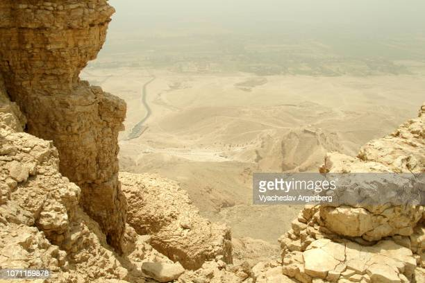 rock formations on theban plateau, egypt - argenberg ストックフォトと画像