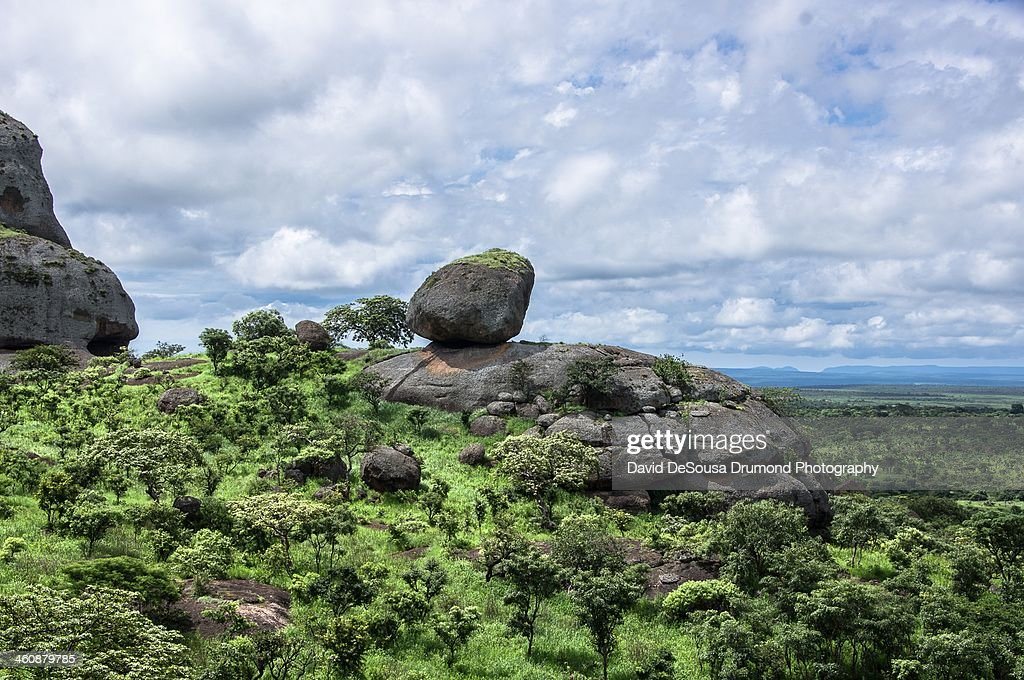 Rock Frmations and Vegetaion in Pongo Andongo : Stock Photo
