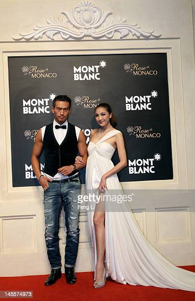 Rock Gi and Shatina Chen attend the Montblanc international gala to celebrate the official opening of its new and biggest concept store in the world...