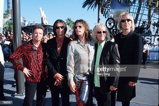 Rock Group Aerosmith arrives at the MTV Video Music Awards September 10, 1998 in Los Angeles, CA. Aerosmith was nominated for Best Video in a Film...