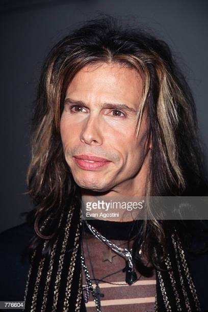 Rock group Aerosmith member Steven Tyler attends the 10th Annual Silver Clef Awards November 3 1997 in New York City The band was honored with the...