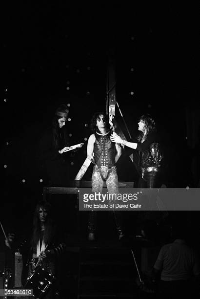 Rock group Alice Cooper perform in November 1972 at Hofstra University in New York City New York