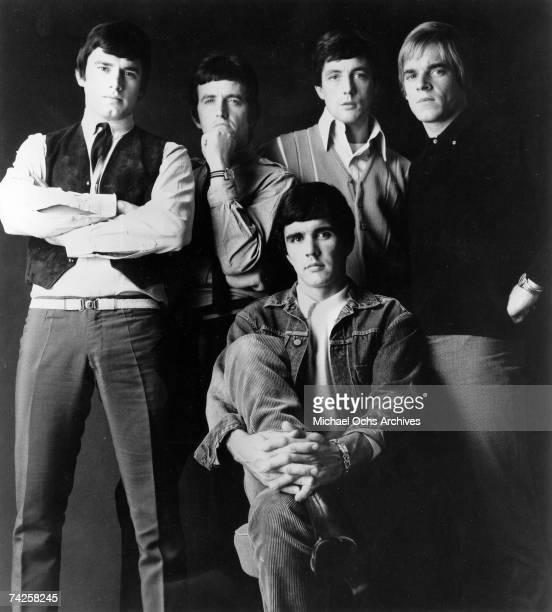"Rock group ""Dave Clark 5"" pose for a portrait in circa 1966. Denis 'Denny' Payton, Rick Huxley, Mike Smith, Lenny Davidson, Dave Clark ."