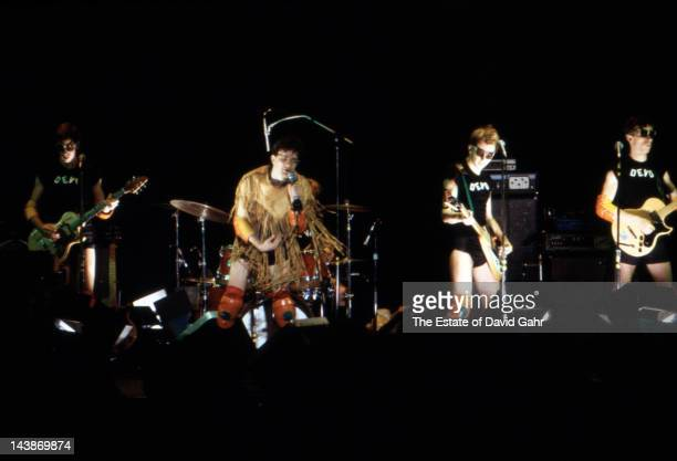 Rock group DEVO perform at the Bottom Line on October 17 1978 in New York City New York