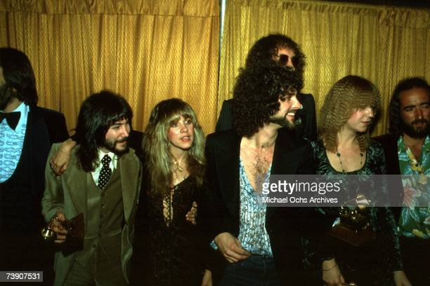 Rock group Fleetwood Mac wins the Album of the year award at the 20th Grammy awards at the Shrine Auditorium Left to right producer Richard Dashut...