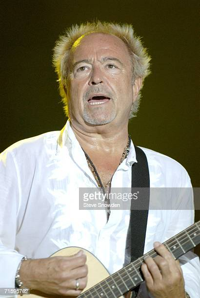 Rock group Foreigner founder/guitarist Mick Jones performs at Route 66 Casino's Legends Theater on August 5 2006 in Albuquerque New Mexico The...