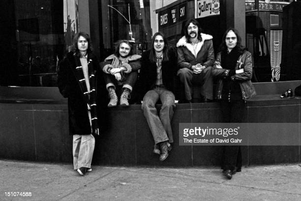 Rock group Genesis pose for a portrait on November 20 1973 in New York City New York
