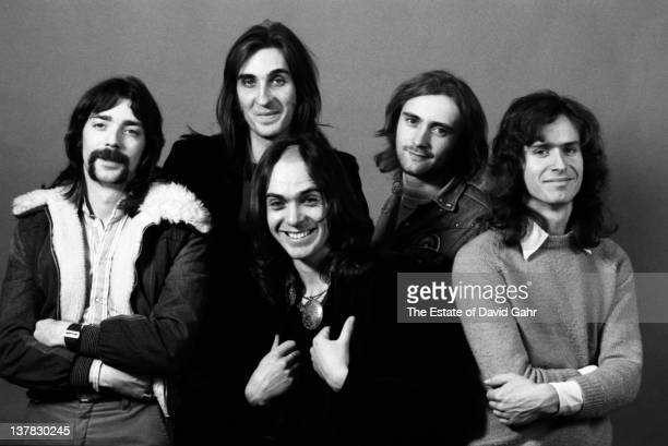 Rock group Genesis pose for a portrait on November 20 1974 in New York City New York