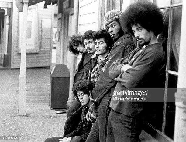 Rock group Santana pose for a portrait in May 1969 in San Francisco, California. This is the fifth line-up of the group but the first that released...
