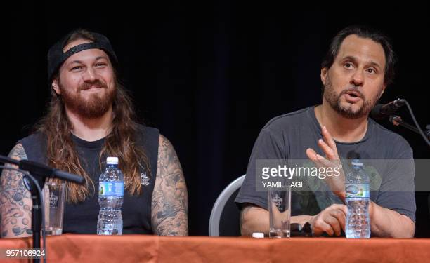 US rock group Suicidal Tendencies Cuban American drummer Dave Lombardo speaks during a press conference in Havana on May 10 2018