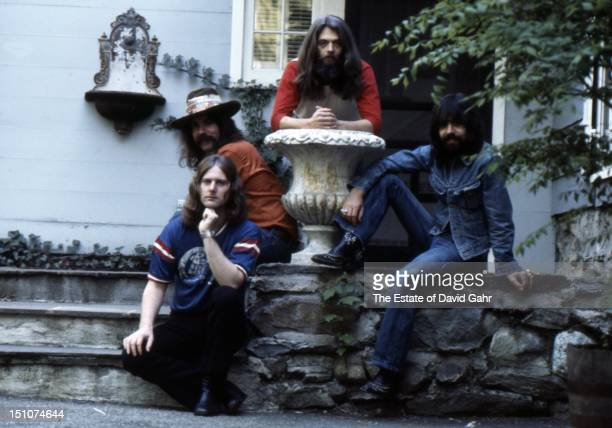Rock group The Byrds pose for a portrait in June 1972 in Connecticut
