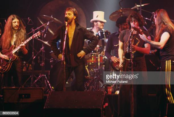 Rock group The Doobie Brothers perform at the Palladium New York US 16th November 1978