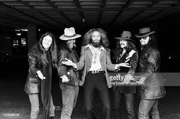 Rock group The Doobie Brothers pose for a portrait on April 12 1973 in New York City New York