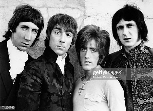 Rock Group The Who pose during a London England photos session circa 1968 Left to right Pete Townshend Keith Moon Roger Daltrey John Entwistle