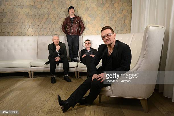 Rock group U2 is photographed for Los Angeles Times on December 7 2013 in New York City