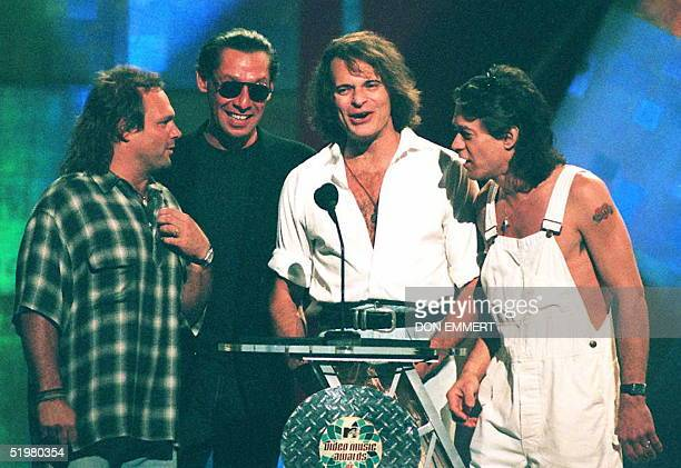 Rock group Van Halen appears for the first time in 10 years with original member David Lee Roth to present an award 04 September at the MTV Video...