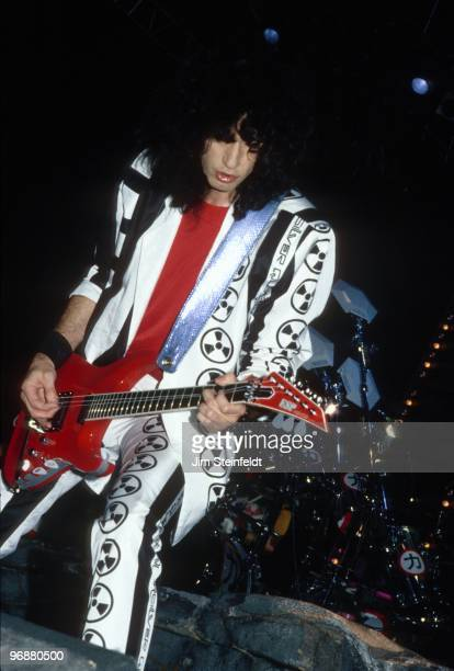 Rock guitarist Bruce Kulick with the rock band KISS performs in Minneapolis Minnesota in 1988