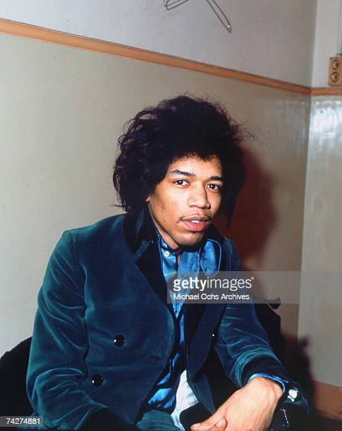 Rock guitarist Jimi Hendrix poses for a portrait in 1966 in London England