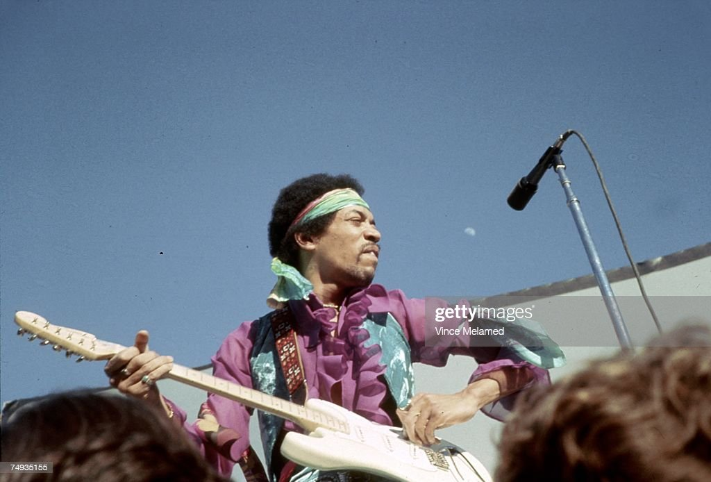 Jimi Hendrix Performing : Photo d'actualité