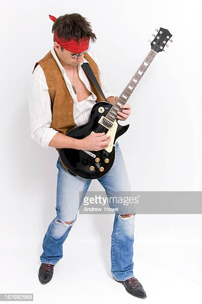 rock guitarist - modern rock stock pictures, royalty-free photos & images
