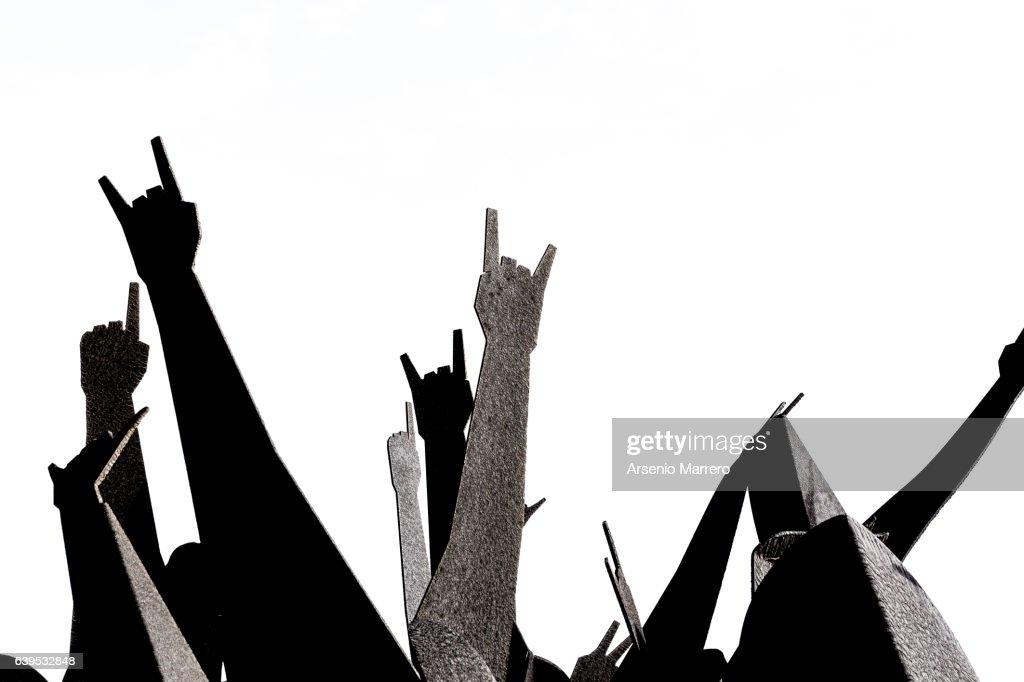 Rock hands : Stock Photo