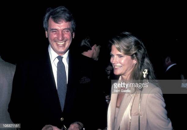 Rock Hudson and Candice Bergen during USC Libraries Tribute to Edgar Bergen April 17 1983 at USC Campus in Los Angeles California United States
