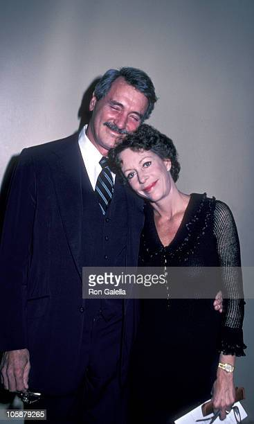 Rock Hudson and Carol Burnett during 4th Annual Carol Burnett Musical Theater Awards February 22 1982 at UCLA Scheoberg Hall in Los Angeles...