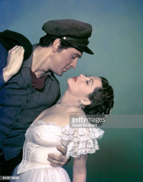 Rock Hudson and Yvonne De Carlo in the film 'The Scarlet Angel' 1952 directed by Sidney Salkow