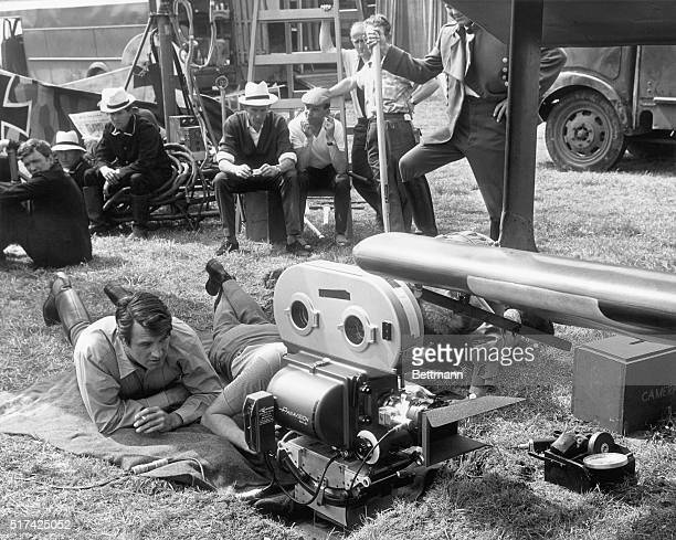 Rock Hudson behind the scenes during filming of Darling Lili a Paramount picture directed by Blake Edwards