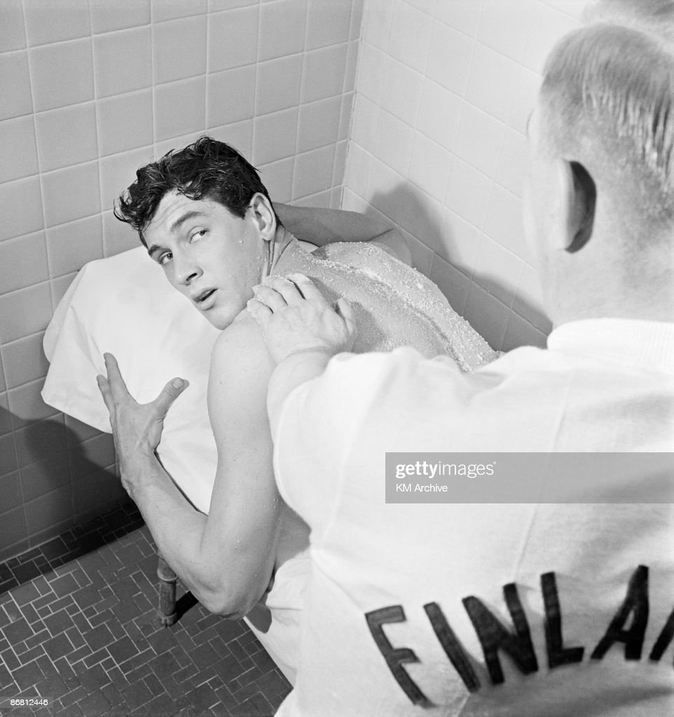 Rock Hudson At The Finlandia Baths Pictures | Getty Images