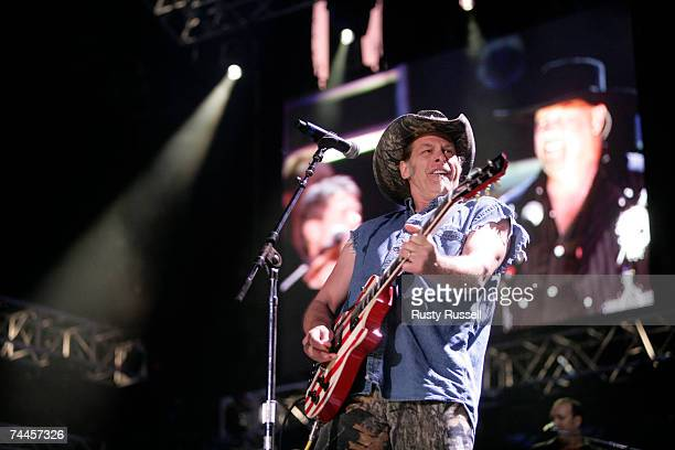 Rock icon Ted Nugent performs at the 2007 CMA Music Festival on June 8, 2007 in Nashville, Tennessee.