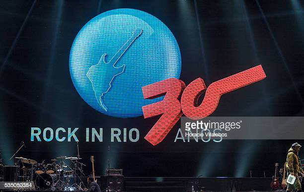 Rock in Rio stage logo seen before Ivete Sangalo show on the fourth day of Rock in Rio Lisbon on May 28 2016 in Lisbon Portugal Ivete Sangalo is a...