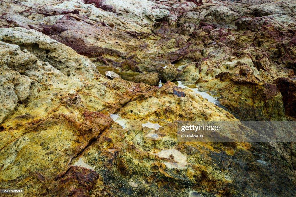 Rock in Sibu island of Johor, Malaysia : Stock Photo